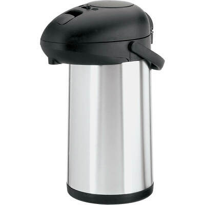 Aps Stainless Steel Push-Button Airpot, 3.63 Qt Black 42406-35