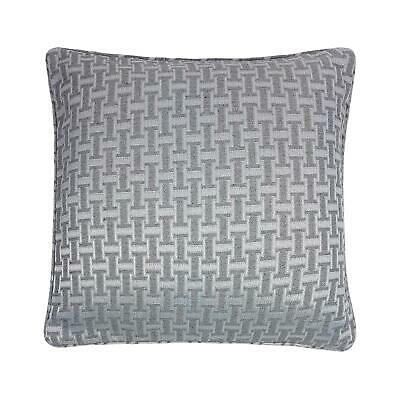 "Large Moderen Key Link Woven Silver Grey 22"" - 55Cm Cushion Cover"