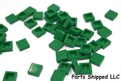 city//star wars//marvel - NEW pack of 50 3024 Lego 1x1 plate in Dark Green