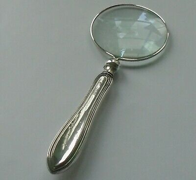 William Yates HM Silver Handle Magnifying Glass Sheffield 1918