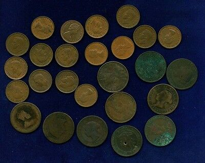 Canada Large And Small Cents, Group Lot Of (26), Some With Problems!