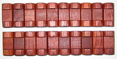 """Vintage lot of 80 Pieces Lincoln Logs Wooden Short Pieces 1 1//2/"""" with 1 Notch"""