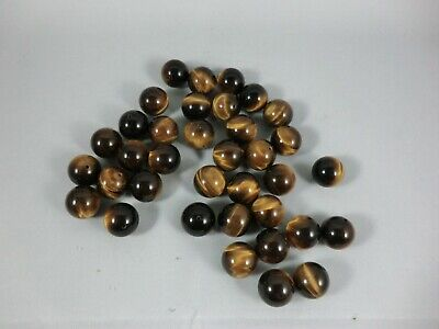 Genuine Natural Yellow Tigers Eye Gemstone Beads 10mm Qty. 37 Count