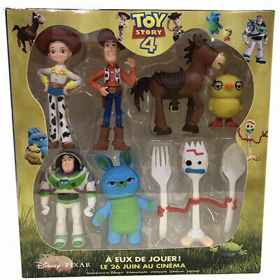 7Pcs Toy Story 4 Woody Jessie Buzz Bunny Ducky Forky Action Figure Model Kid Toy