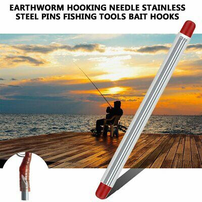 Earthworm Einhaknadel stainless steel pins Fishing Tool Bait Haken