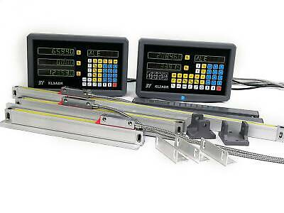 2/3Axis DRO Digital Readout for Milling Lathe Machine + Linear Glass Scales