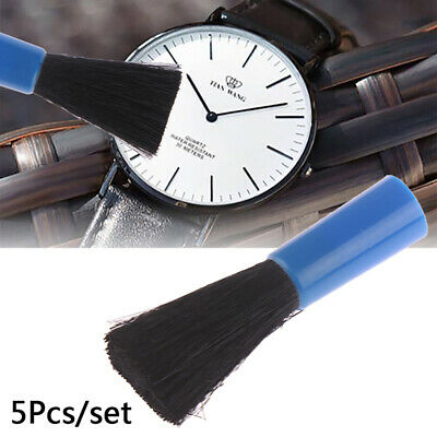 5pcs Jewelry Cleaning Brush Watch Lens Dust Rust Remover Removal Cleaner Tool gv