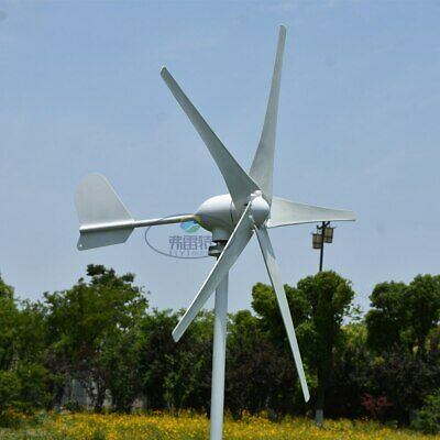 400W 5 blades horizontal axies wind Turbine generator 12/24V with controller