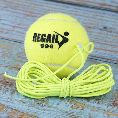Elastic Rubber Band Tennis Ball Single Practice Training Belt Line Cord Tool FN