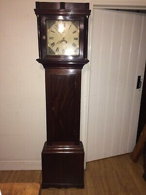 Georgian mahogany .Longcase/Grandfather clock..For delivery please read listing.