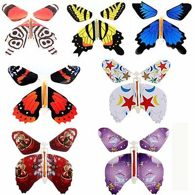 7Pcs/Set Magic Flying Butterfly Change Empty From Hands Trick Prop Toy Game Gift