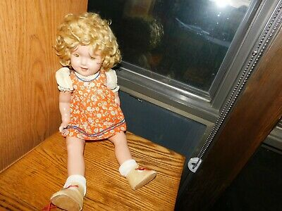 1930's Ideal Shirley Temple Composition Doll TLC Vintage
