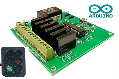 Street Traffic Light Controller AC Sequencer ARDUINO Based 6 Channel 110/240VAC