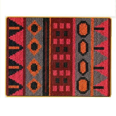 AZTEC WINE RED LATCH HOOK RUG KIT, NEW DESIGN and UK SELLER