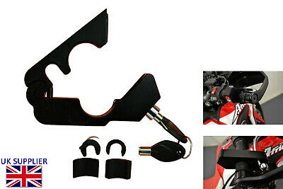 Handlebar Clamp Grip Lock for Motorcycle Scooter ATV Heavy Duty Security