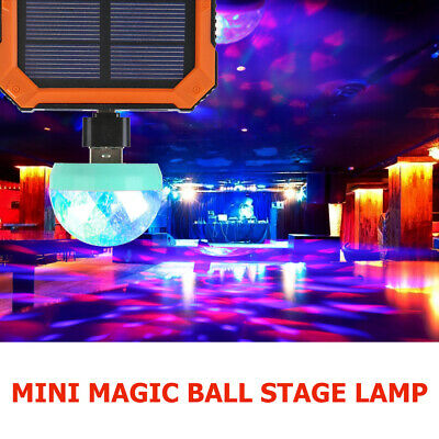 Mini USB Disco Ball Light LED Party Lamp Colorful Effect Stage Lights Home Decor