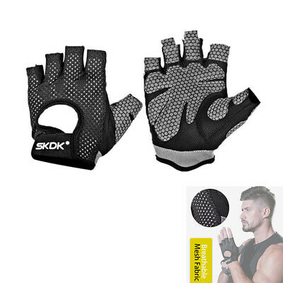 Skdk Neutral Elastic Gym Fitness Gloves Dumbbell Weight Lifting Body Buildi A1T4