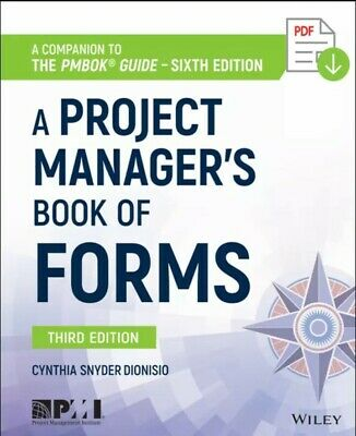 A Project Manager's Book of forms (P.D.F.)