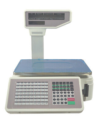 110V 30lb Computing Scale with Thermal Label Printer English Panel