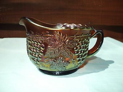 Carnival Glass.Northwood Amethyst Grape And Cable Breakfast Creamer.Marked N.VGC