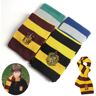 Harry Potter Scarf Gryffindor Slytherin Ravenclaw Hufflepuff Cosplay Kids Gifts