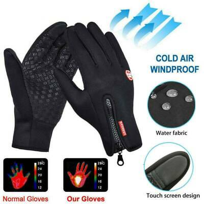 Men Women Winter Warm Windproof Waterproof Thermal Touch Screen Gloves Mittens ~