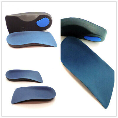 UK 3/4 Orthotic Arch Support For Plantar Fasciitis Fallen Arches Feet Insoles