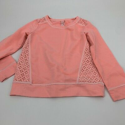 Cat & Jack Girls Sweatshirt Pull Over Pink Medium (7-8)