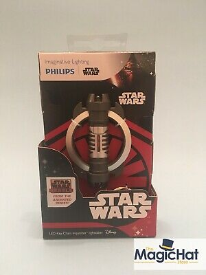 STAR WARS LED Flash Light & Keychain by Philips Inquisitor Lightsaber BNIB
