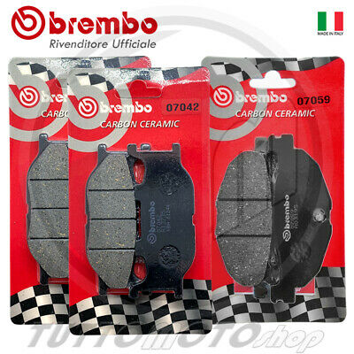 KIT PASTIGLIE FRENO BREMBO CARBON YAMAHA MAJESTY 400 dal 2005 al 2013 ANT+ POST.
