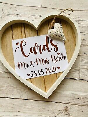 Wedding Cards *Personalised A5 Decal Sticker* MAKE YOUR OWN Memory Box Keepsake
