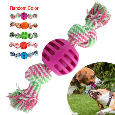 Dog Rope Chew Toys Kit Tough Strong Knot TPR Ball Pet Puppy Cotton Teething Toy