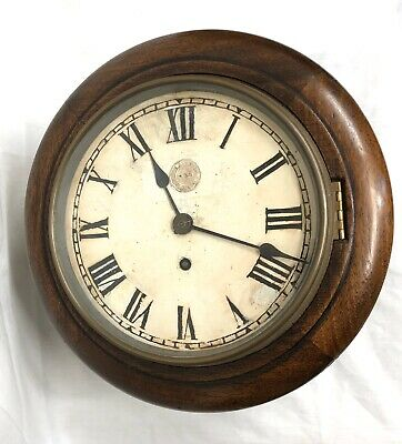 Rare Oak Cased CREWE Fusee 8 INCH Dial Railway Clock LMS 8870 : L&NWR ?