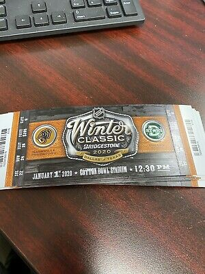 2020 NHL Winter Classic Ticket Stub Multiple Sections Available