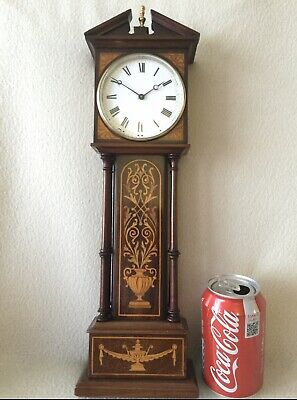 Antique Miniature Marquetry Longcase Clock, Grandfather Clock, Mantle Clock