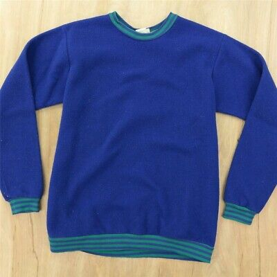 vtg usa made LL BEAN fleece pullover sweatshirt top KIDS LARGE 80s 90s