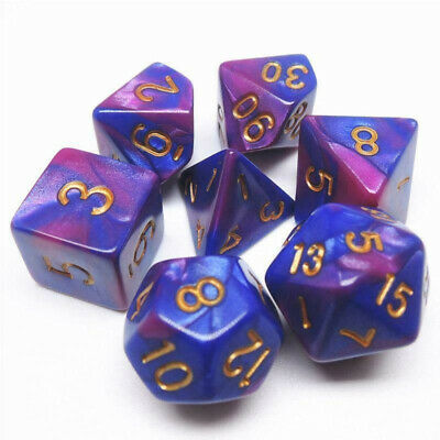 DIY Crystal Epoxy Mold Dice Fillet Shape Digital Game Silicone Mould Acces