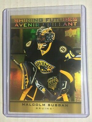 2015-16 Upper Deck Tim Hortons Shining Futures #SF-1 Malcolm Subban Boston Bruin