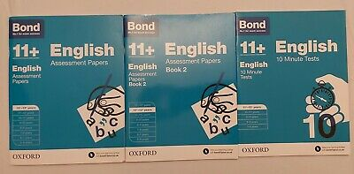 Bond 11+ 10 minute tests Assessment papers English 11-13 Years 3books