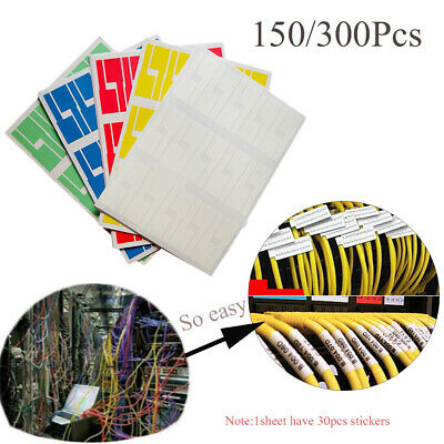 Network Marker Tool Cable Labels Stickers Fiber Organizers Identification Tags