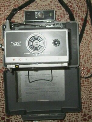 Polaroid Automatic 340 Land Camera with Portrait & Close Up Kit & Instructions
