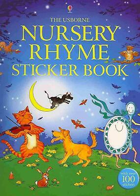 Nursery Rhyme Sticker Book by Alex Frith (English) Paperback Book Free Shipping!