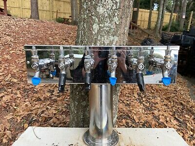 Stainless Steel Draft Beer Tower - 6 Faucets - Glycol Ready - Commercial Use
