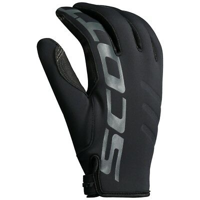 Guanti Gloves Moto Enduro Cross Scott Sco Neoprene Invernale Nero Tg M