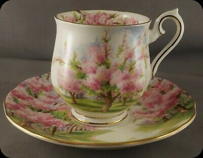 Royal Albert Blossom Time Demitasse Cup & Saucer Hampton Shape (4 available)