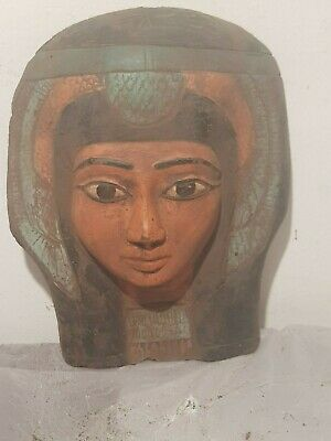 Rare Antique Ancient Egyptian Queen Nefertari Mask Advisor Wif Ramses1279–1213BC