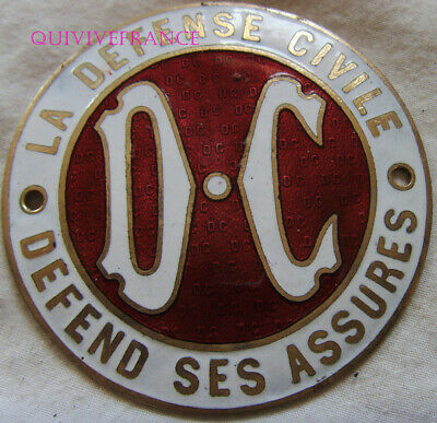 BADGE DE CALANDRE  plaque d'Assurance Automobile LA DEFENSE CIVILE