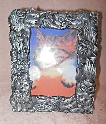 Pewter Look Metal Cats Kittens Photo Or Picture Frame 3 X 5
