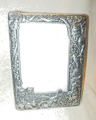 Beautful Silver Plated Cats  Kittens Photo Picture Frame 5 X 7