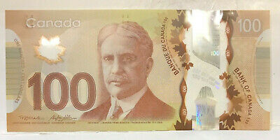 CANADA 2011 $100 DOLLARS POLYMER WITH THE BRAILLE. Bank of CANADA..UNCIRCULATED